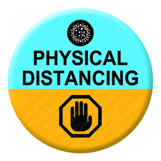 Physical Distancing Badge