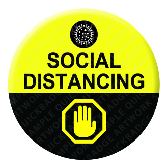 Social Distancing Badge