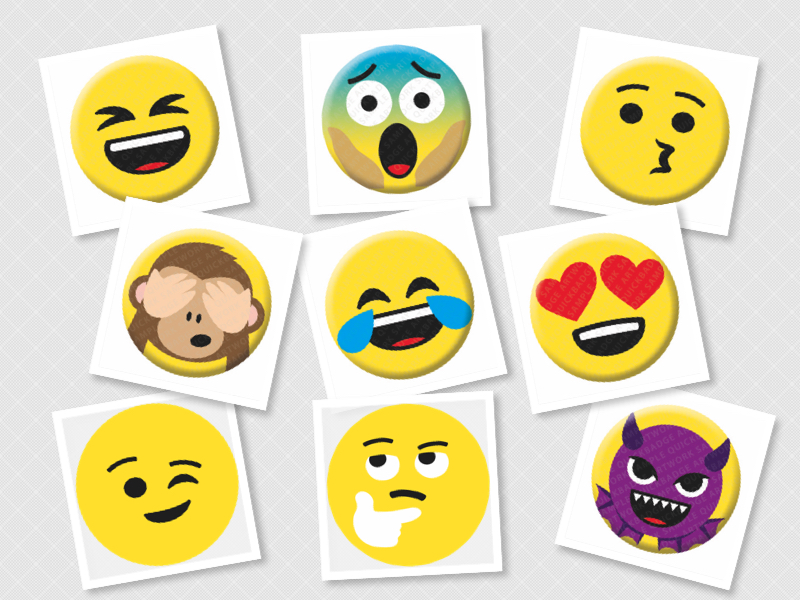 Emoji Face Badges