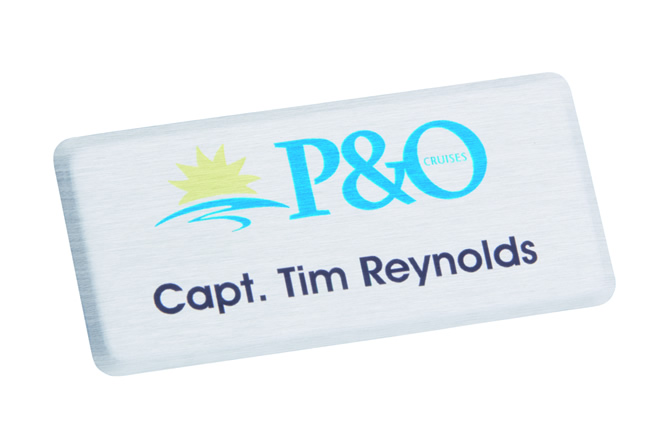 Rectangle Metal Name Badge 72mm x 36mm
