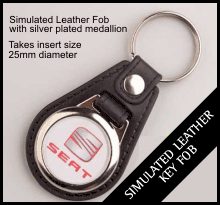 Leather Style Insert Keyring QBMD-25