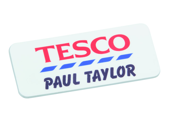 Custom Plastic Name Badge 76mm x 30mm