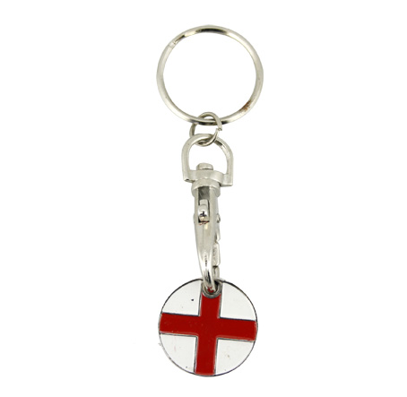 England Shopping Trolley Keyring