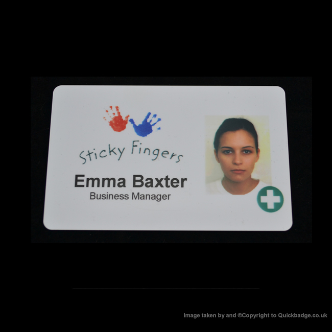Custom Slimline Badge (85 x 55mm)