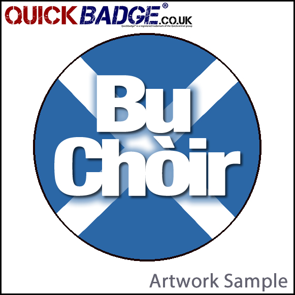 38mm (1 1/2 Inch) Bu Choir Cross Pin Badges