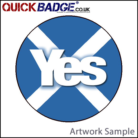 38mm (1 1/2 Inch) Yes Cross Pin Badges