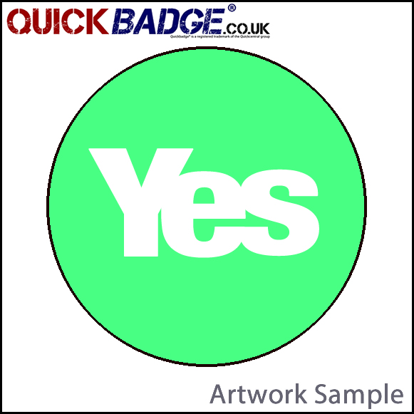 38mm (1 1/2 Inch) Yes Green Pin Badges