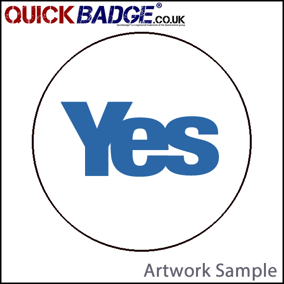 38mm (1 1/2 Inch) Yes White Pin Badges