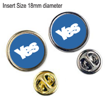 Yes Round Insert Lapel (18mm).