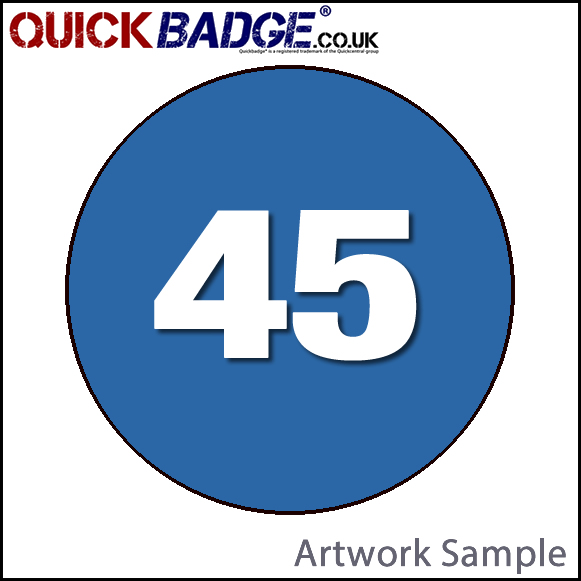 38mm (1 1/2 Inch) 45 Blue Pin Badges