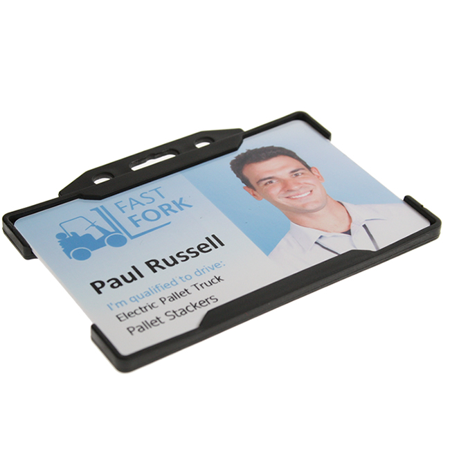 Open Faced Rigid ID Card Holder - Landscape