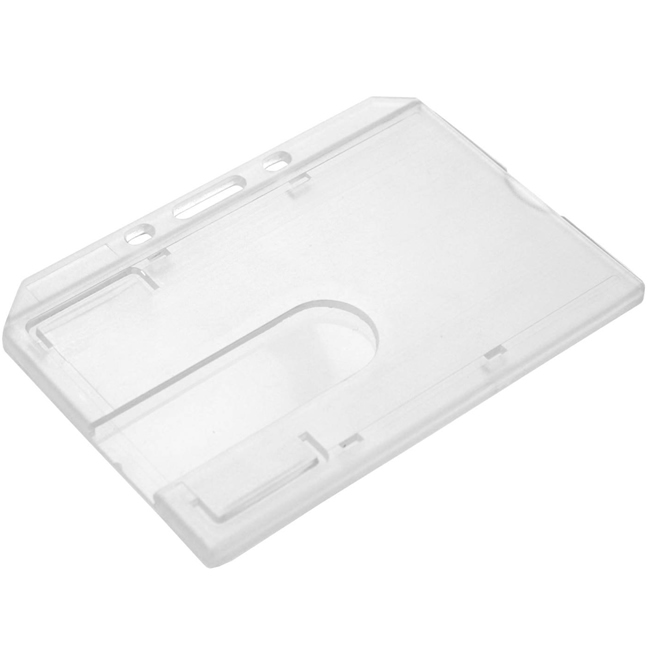 Enclosed Rigid ID Card Holder - Landscape