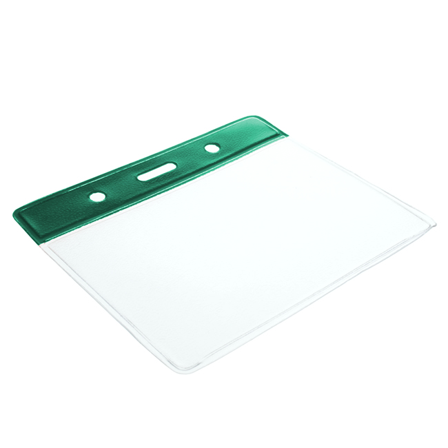 Colour Top Vinyl Card Holders - Landscape