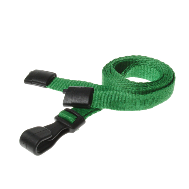Breakaway Lanyards With Plastic J-Clip