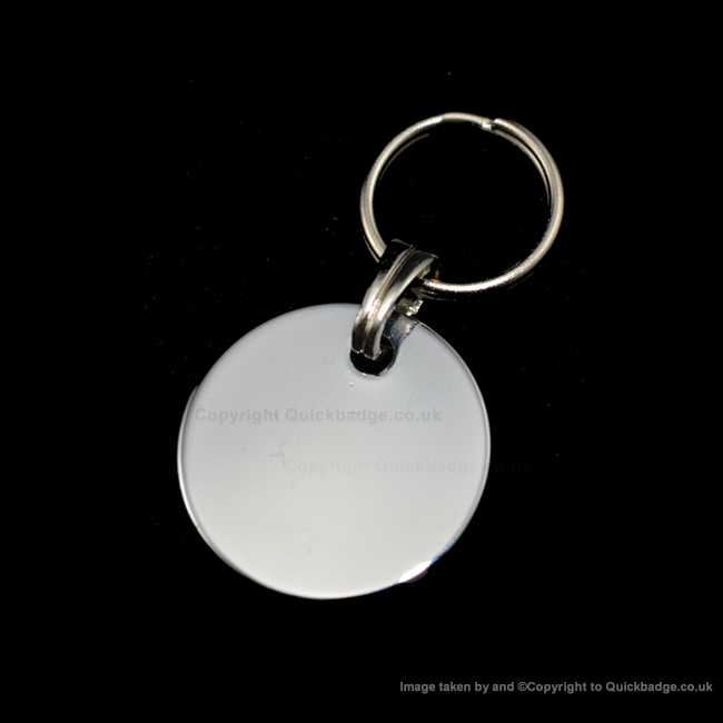 22mm Chrome or Brass Disc Pet Tag
