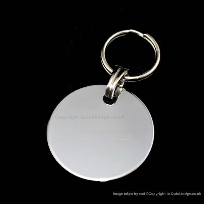 25mm Chrome or brass Disc Pet Tag