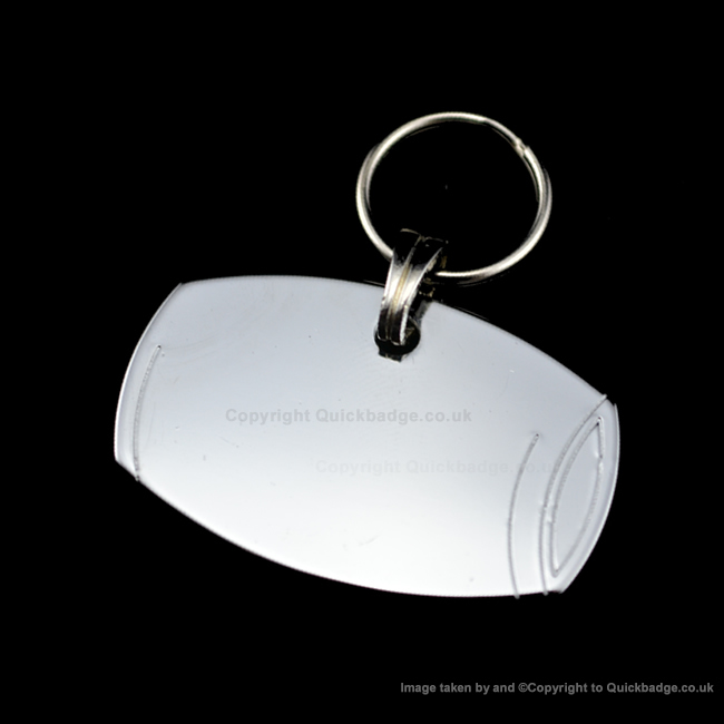 Barrel Dog Tag Polished Chrome or Brass