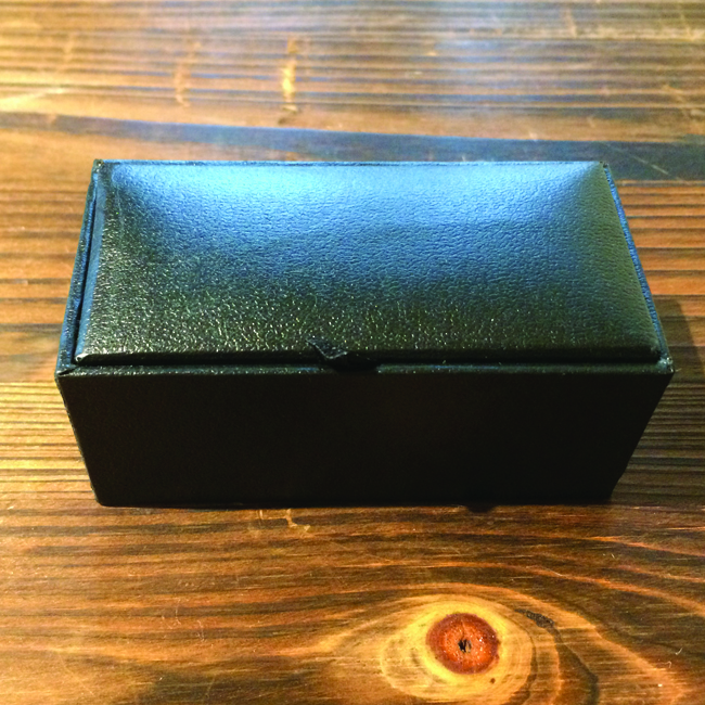 Flip Top Cufflinks Box