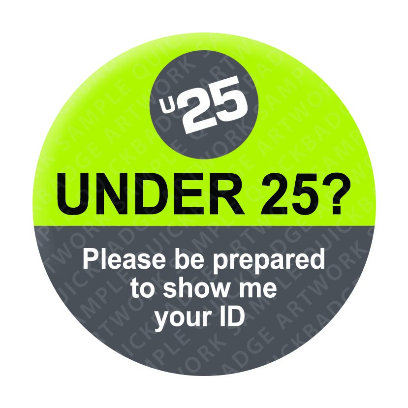 Under 25 - Green/Grey Pin Badges