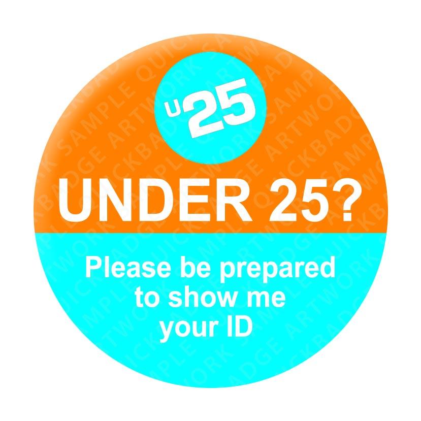 Under 25 - Orange/Blue Pin Badges