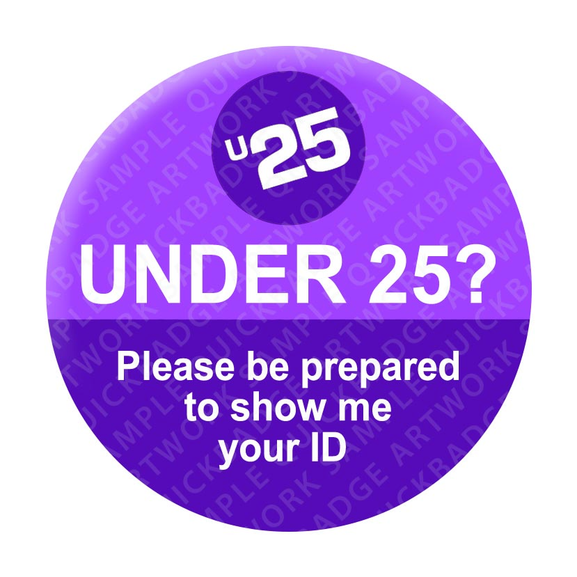 Under 25 - Purple Pin Badges