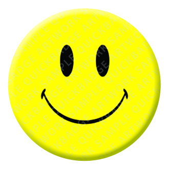 Smiley Face Button Pin Badge