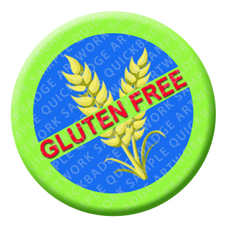 Gluten Free Button Pin Badge