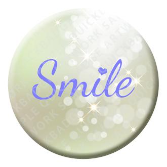 Smile Button Pin Badge