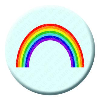 Rainbow Button Pin Badge