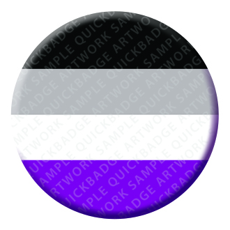 Asexual Button Pin Badge