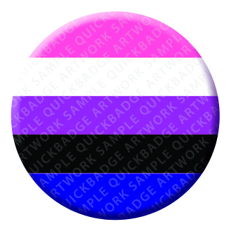 Gender Fluid Button Pin Badge