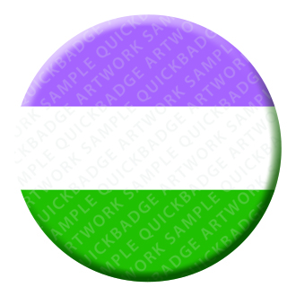 Genderqueer Button Pin Badge