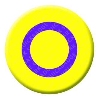 Intersex Button Pin Badge