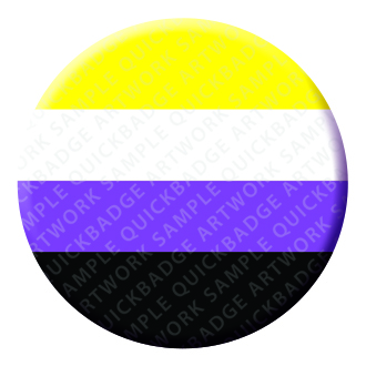 Non Binary Button Pin Badge