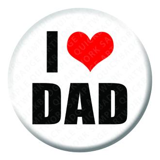 I Heart Dad Badge