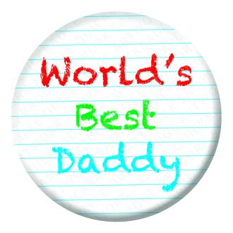 Worlds Best Daddy Badge