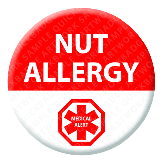 Nut Allergy Alert Badge