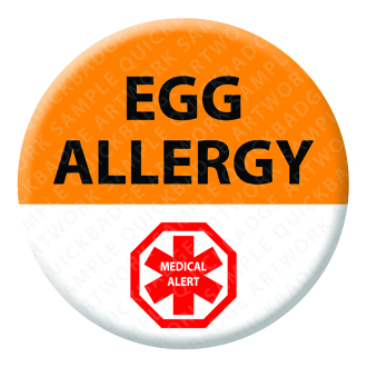Egg Allergy Alert Badge