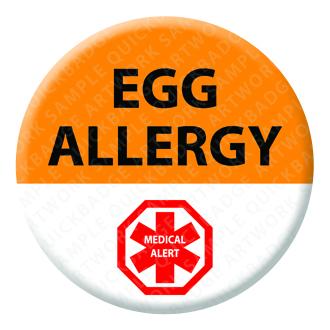 Egg Allergy Alert Badge