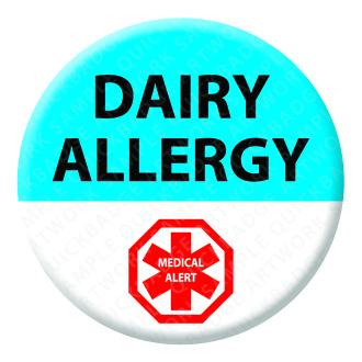 Dairy Allergy Alert Badge