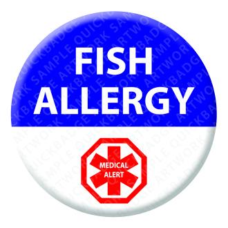 Fish Allergy Alert Badge