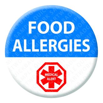 Food Allergies Alert Badge