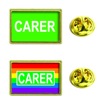 Carer Insert Lapel Pin - Rectangle 21x13mm