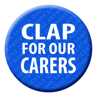 Clap for our Carers Button Pin Badge