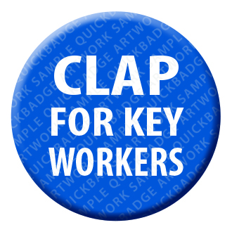 Clap for Key Workers Button Pin Badge