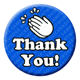 Thank you Clap Button Pin Badge