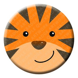 Tiger Button Pin Badge