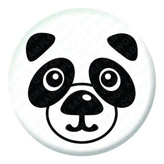 Panda Button Pin Badge