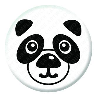 Panda Button Pin Badge