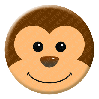 Monkey Button Pin Badge